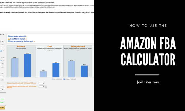 Using the Amazon FBA Calculator