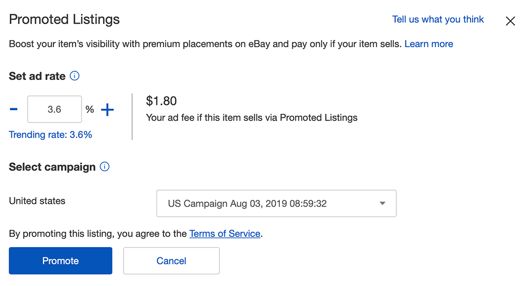 3 Quick Hacks to Get More eBay Sales: Promoted Listings Ad Example