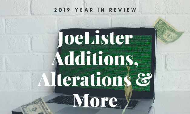 JoeLister 2019 Year in Review