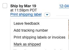 Update eBay Order w/ shipping