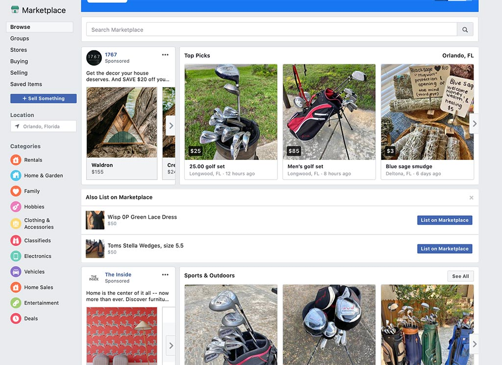 The 7 Best eCommerce Marketplaces for Online Sellers: Facebook Marketplace