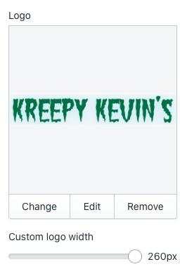 Upload logo to theme