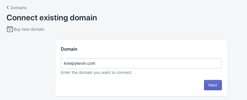 Connect your own domain