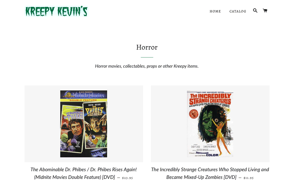 Horror Collection Page