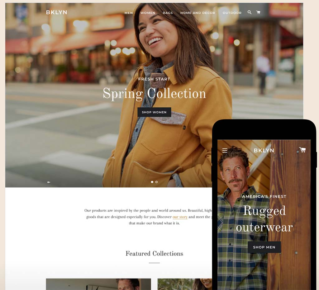 Shopify Free Theme: Brooklyn