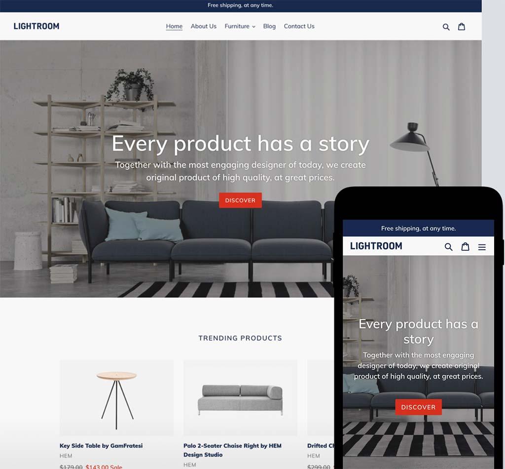 Shopify Free Theme: Debut