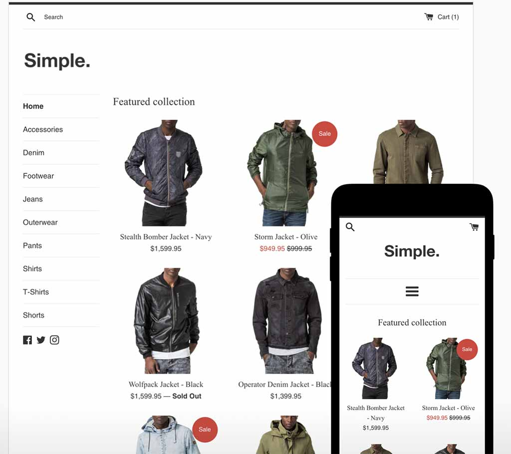 Shopify Free Theme: Simple