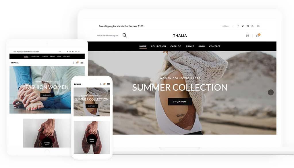 Shopify Free Theme: Thalia