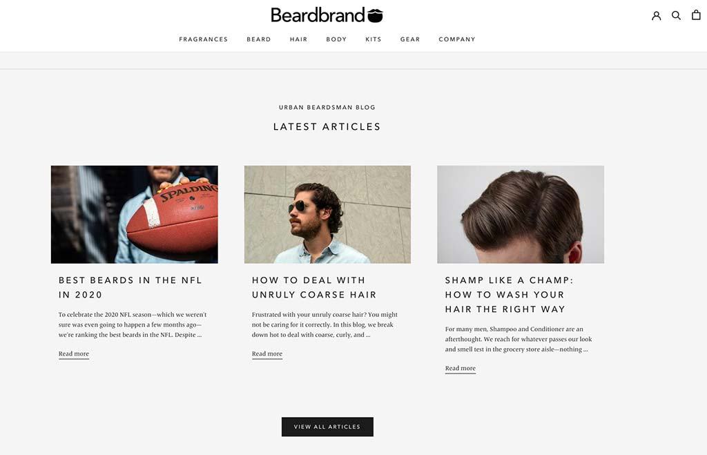 A top Shopify storer — Beardbrand