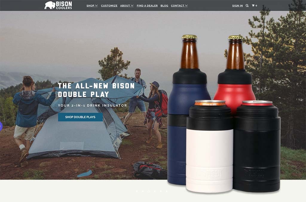 Bison Coolers — a top Shopify store