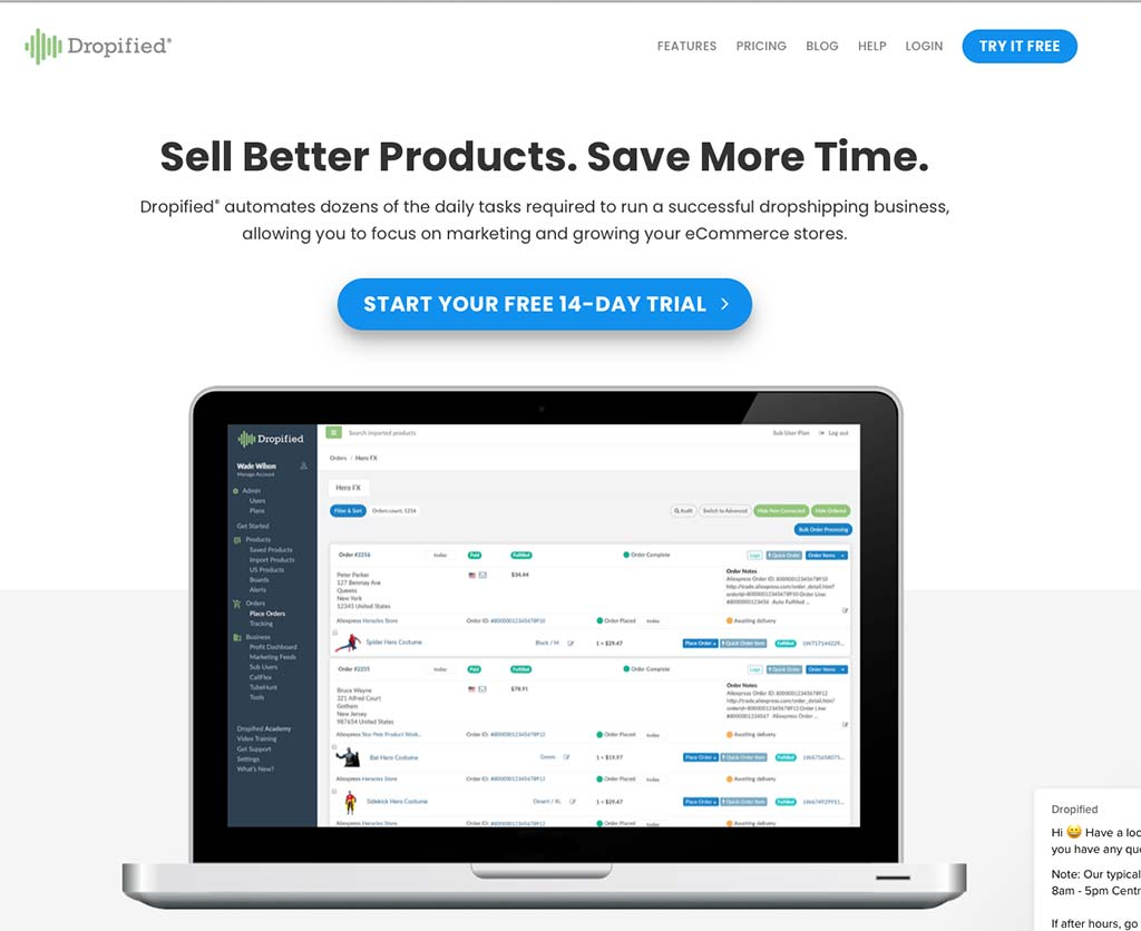 Dropified Home Shopify Dropshipping app