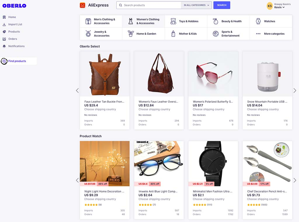 Oberlo Products to pick for Shopify Dropshipping