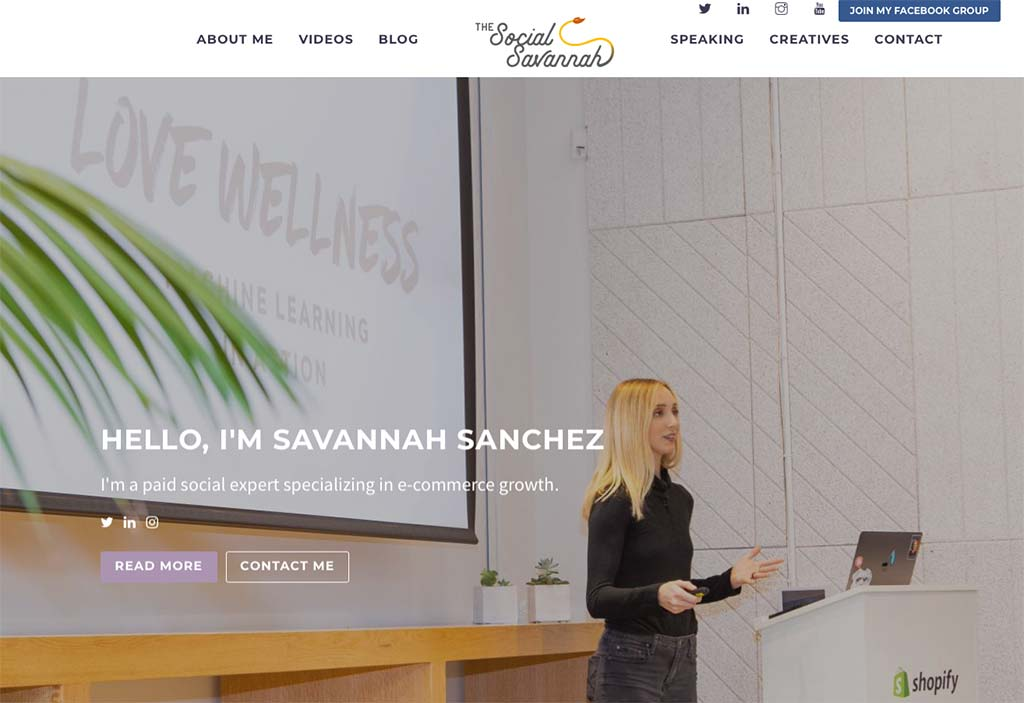 eCommerce Marketing Expert: Savannah Sanchez